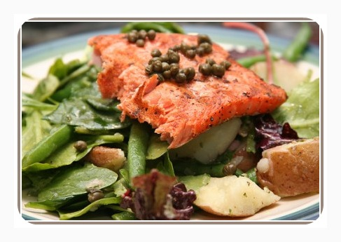 healthy salad recipes salmon