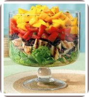 healthy salad recipe mango bean