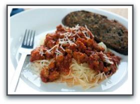 heart healthy dinners spaghetti squash